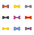 fashion bow tie icon set flat style vector image