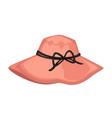 female cap with bow stylish women accessories vector image vector image