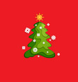 fir tree on red vector image