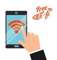 free wifi design vector image vector image