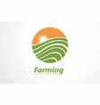 fresh farm products logo organic vector image vector image