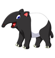 funny tapir cartoon smiling vector image