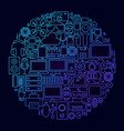 gadget line icon concept circle vector image vector image