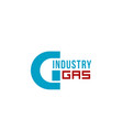 gas industry letter g icon vector image vector image