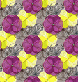 Geometric abstract floral seamless pattern