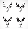 group of deer head vector image vector image