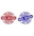 grunge india kolkata textured round stamp seals vector image vector image