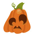halloween orange pumpkin for holiday celebration vector image vector image