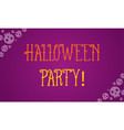 halloween party with purple background vector image vector image