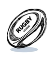 hand drawing rugby ball design vector image vector image