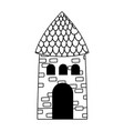 house countryside architecture isolated icon on vector image