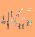 isometric flat concept business growth vector image vector image