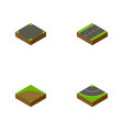 isometric road set of sand cracks road vector image vector image