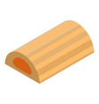 jelly cookie bar icon isometric style vector image