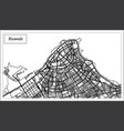 kuwait map in black and white color vector image vector image