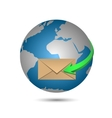 Message and globe vector image vector image