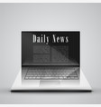 news on the computer vector image vector image