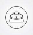 purse outline symbol dark on white background logo vector image vector image
