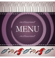 restaurant menu design with seafood icons vector image vector image