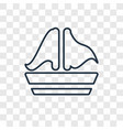 sailing boat concept linear icon isolated on vector image vector image