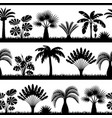 seamless pattern with tropical palm trees exotic vector image vector image
