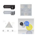 set of abstract paper infografics eps10 vector image vector image