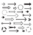 set of back arrows and icon vector image vector image