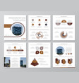 set of brown elements for multipurpose a4 vector image vector image