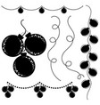 set of flat silhouettes of black and white vector image vector image