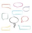 set of grunge speech bubbles vector image vector image