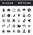 set simple icons recycling vector image
