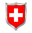Swiss flag button vector image vector image