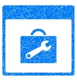 Toolbox Calendar Page Grainy Texture Icon vector image vector image