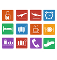 Airport icon Flat icons set vector image
