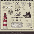 nautical design elements vector image