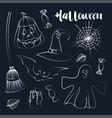 happy halloween hand drawn vector image