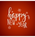 happy new yearcard lettering vector image