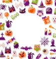 Halloween Clean Card with Place for Your Text vector image