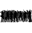 silhouettes of dancing people vector image