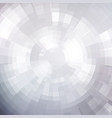 abstract white shiny concentric mosaic vector image