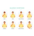 allergy symptoms vector image vector image