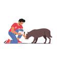animal volunteering concept volunteer character vector image