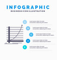 arrow chart curve experience goal infographics vector image vector image