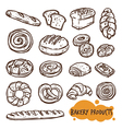 Bakery Products Sketch Set vector image vector image