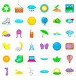barbecue icons set cartoon style vector image vector image