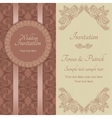 Baroque wedding invitation brown and beige vector image vector image