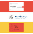 beautiful blast logo and business card vertical vector image