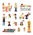 Beauty Salon Spa People Set vector image vector image