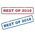 Best Of 2018 Rubber Stamps vector image vector image