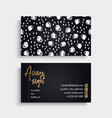 business card vintage decorative elements vector image vector image
